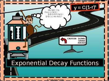 """The following lesson offers instruction in the application of the Exponential Decay model. * Students learn about required factors in the exponential decay model. * Students become familiar with how to use the """"decay factor"""" within the exponential decay model *"""