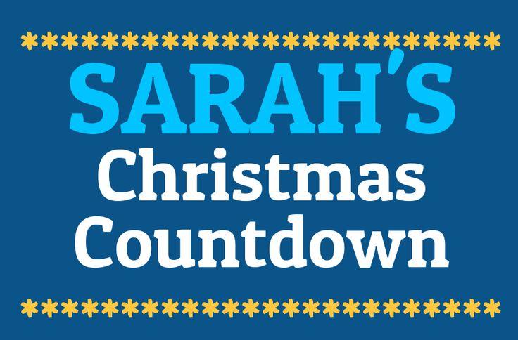 Sarah's Christmas Countdown 2014 | Days Until Christmas | Sleeps To Xmas