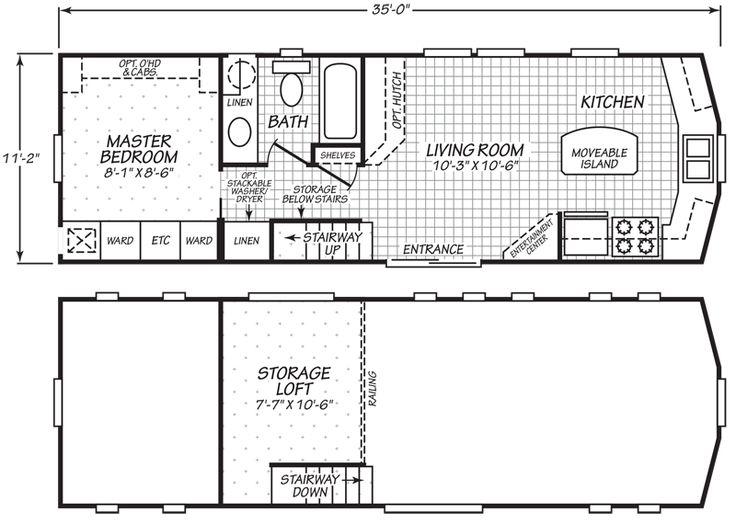 2 Bedroom Park Model Homes Floor Plans