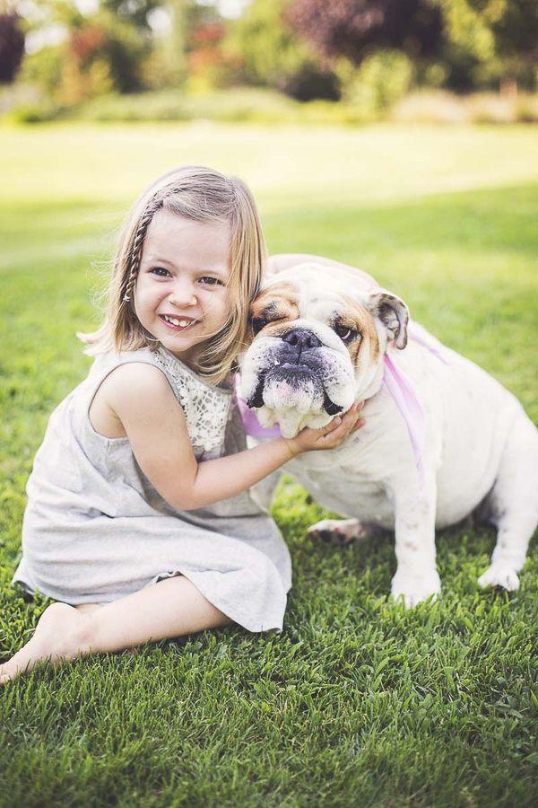 Happy Tails Maddie The English Bulldog Dog Photography Girl