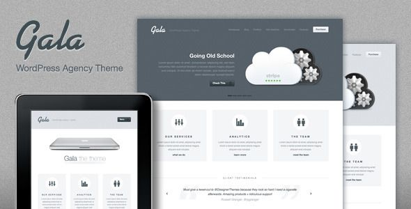Gala, a Tasty Mac-inspired Agency WordPress Theme - ThemeForest Item for Sale