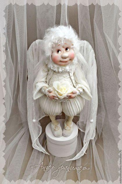 Коллекционные куклы ручной работы. Ярмарка Мастеров - ручная работа. Купить Ангел -хранитель. Handmade. Белый, ангел, радость, на свадьбу