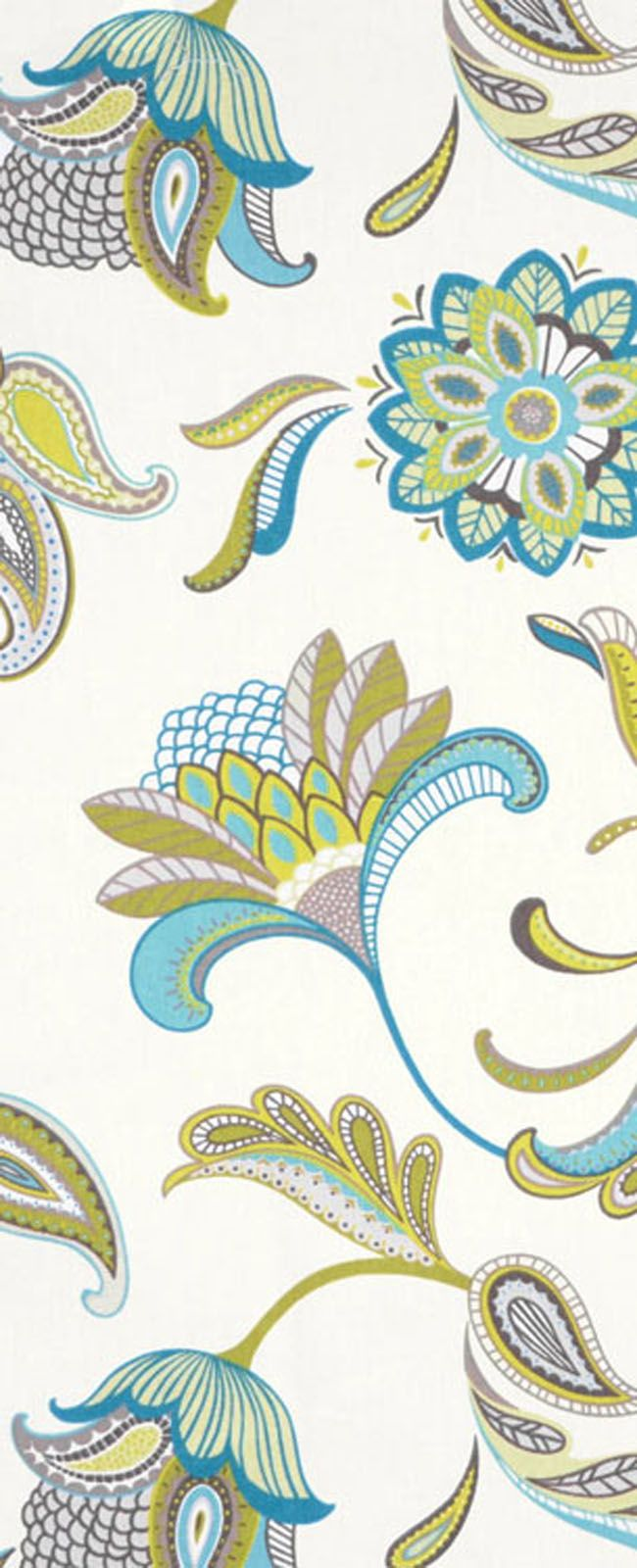 Covington Savannah Surf Fabric #blue #green #decor