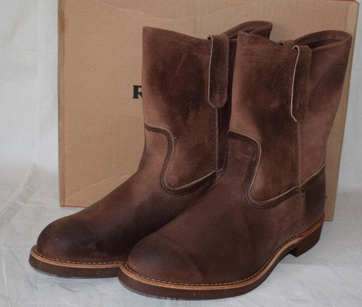 Red Wing Heritage 8189 Pecos Suede Engineer Boots UK8 Cork Sole Redwing 