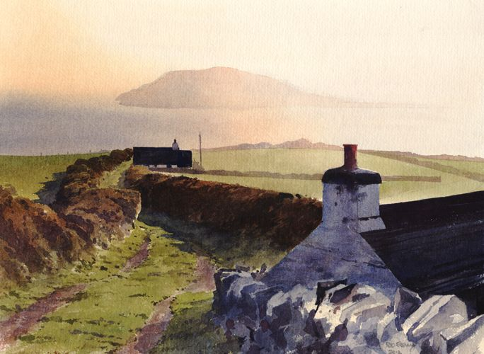 The Island, an original watercolour painting by Rob Piercy
