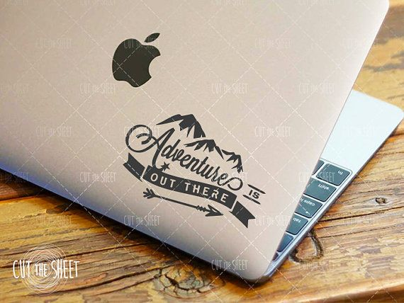 Want this for my Birthday! Adventure is out there  Laptop Decal  Laptop by Cutthesheet