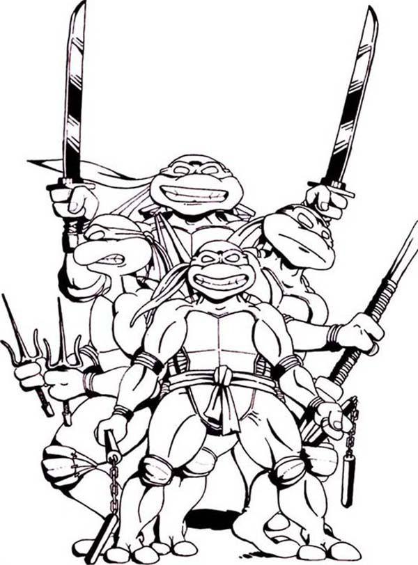 Teenage Mutant Ninja Turtles and Their Favorite Weapon