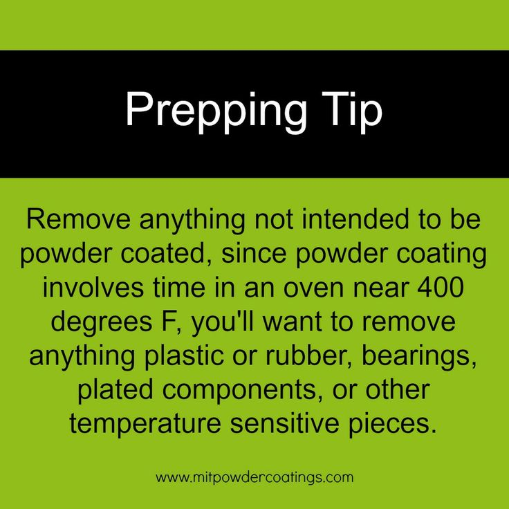 Powder Coating Prepping Tip. How to prep a part for powder coating. www.MITPOWDERCOATINGS.com