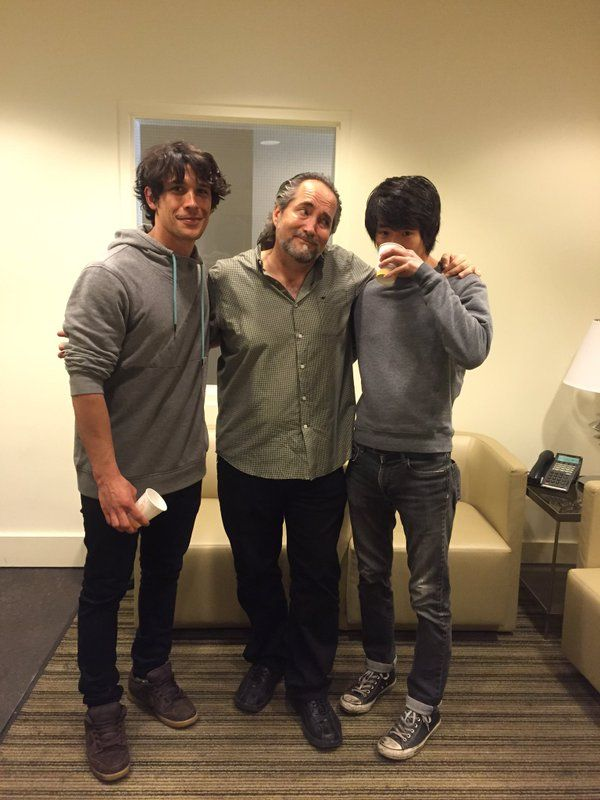 "dailymorley: "" ""charliecrutcher: More ADR fun on #The100 with Bob and Chris ✨ "" """