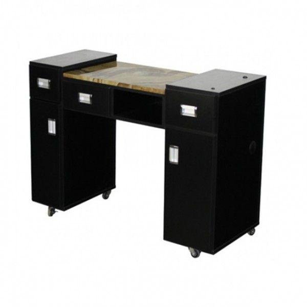 $300 Adelle Manicure Table Black A , Https://www.regalnailstore.com. Nail  Salon FurnitureNail ...