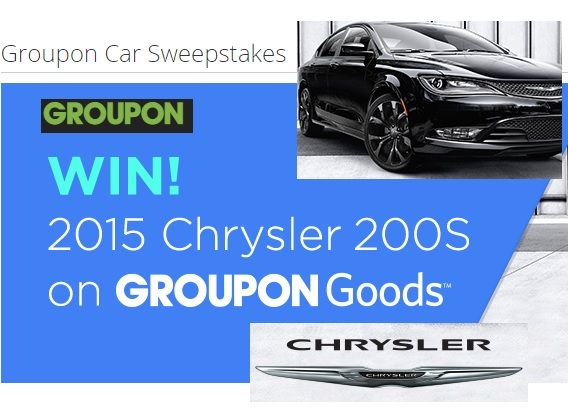 Groupon Car Sweepstakes