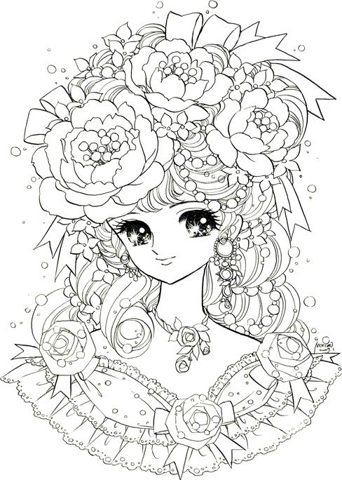 coloring dream girl colouring pages