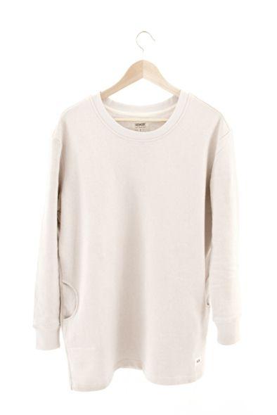 RCM CLOTHING / WOMENS SWEATSHIRT | WHITE  Sustainable Hemp Wear, 55% hemp 45% organic cotton fleece http://www.rcm-clothing.com/