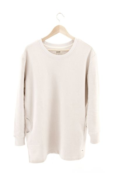 RCM CLOTHING / WOMENS SWEATSHIRT   WHITE  Sustainable Hemp Wear, 55% hemp 45% organic cotton fleece http://www.rcm-clothing.com/