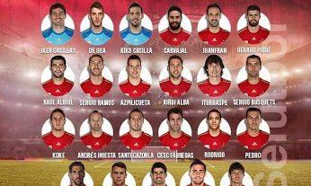 Lista para los partidos de clasificación para la #Eurocopa 2016 contra Eslovaquia y Luxemburgo #SeleccionEspañola #LaRoja #España #Futbol