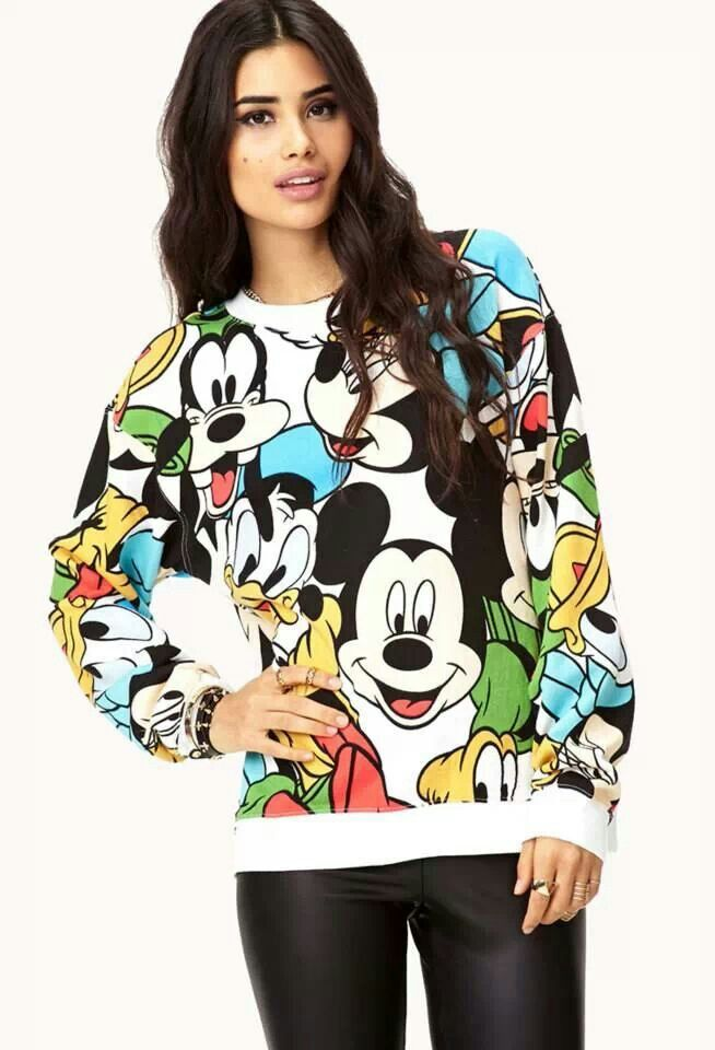 Disney sweatshirt So cute! I luv Disney #mickeymouse ...