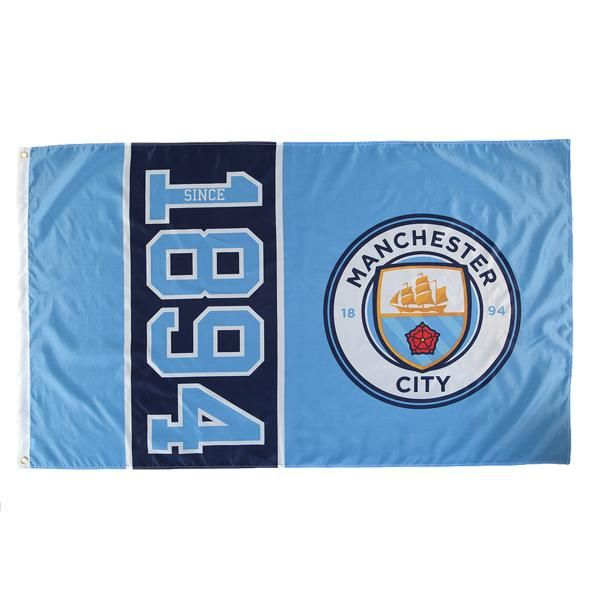 Manchester City Since 1894 Flag (Sky Blue)