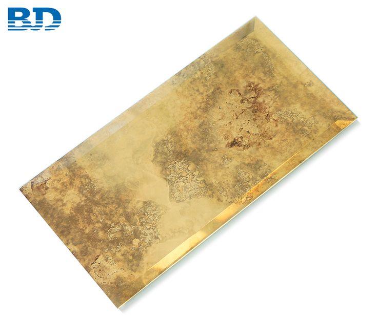 Bevel/Flat Antique Mirror Tile (Gold) nel 2020