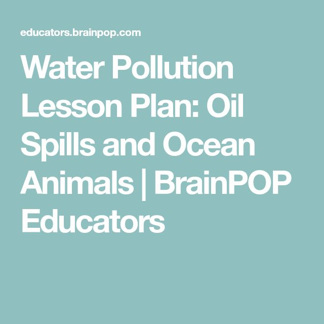 Animated lesson to learn about water pollution ...