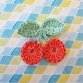 Free crochet cherry pattern.