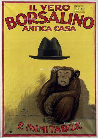 Manifesto del cappello Borsalino di Marcello Dudovich (1878-1962)