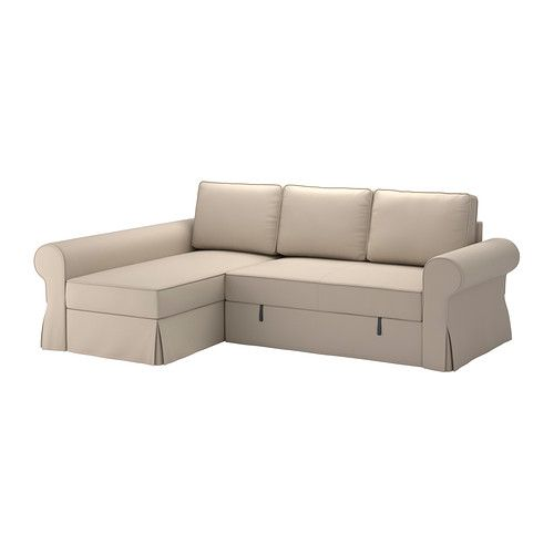 Backabro Sofa Bed With Chaise Longue Ramna Beige