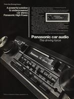 Panasonic High Power Car Stereo 1982 Ad Picture