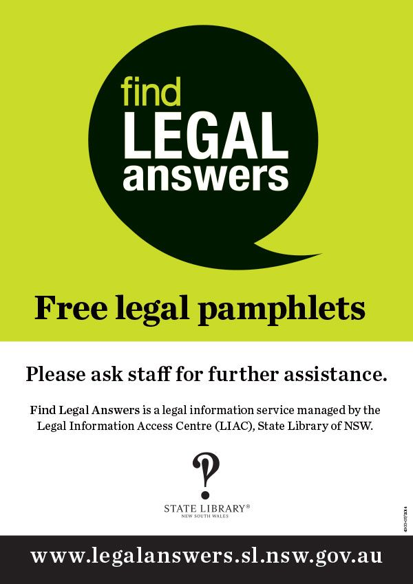 Free legal pamphlet poster - print this out and display near your pamhlets