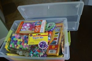 DIY craft box for a 4-8 year old! Love it! And its super inexpensive! I don't have any little kids that I have to buy a gift for, but if I did...! This is awesome @Jackie Lopina. I will keep this in my back pocket.