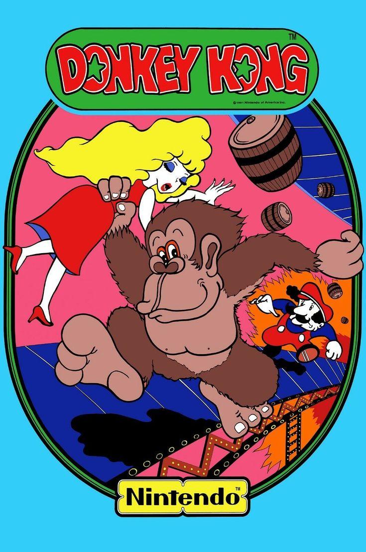 Donkey Kong Classic Arcade Art Poster Nintendo Donkey