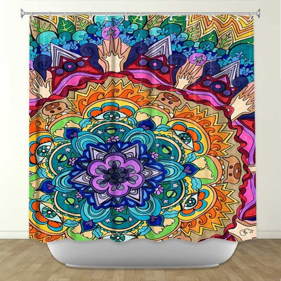 Decorative Shower Curtains Alex Ruiz Starry Night Artistic T ...