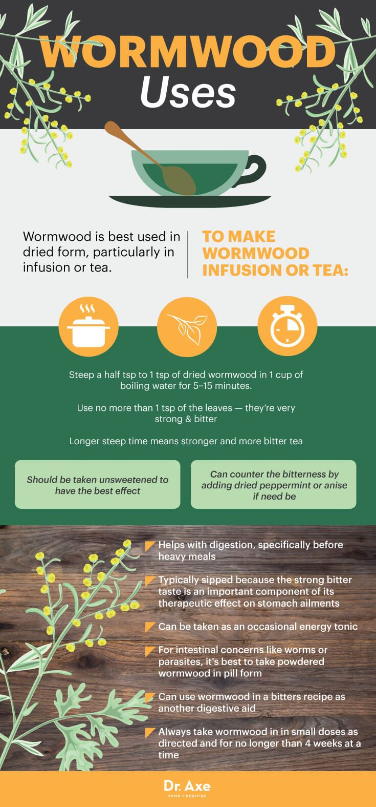 Wormwood uses - Dr. Axe http://www.draxe.com #health #holistic #natural