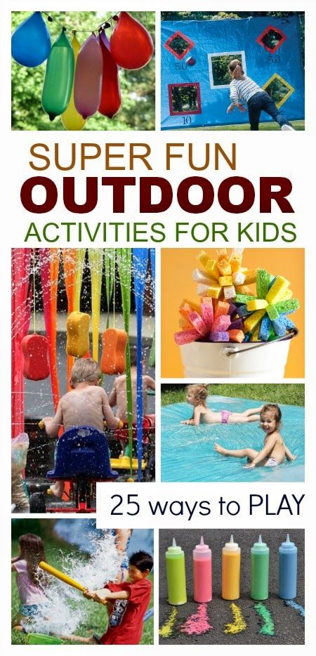 25 SUPER FUN Outdoor Activities for Kids; so many fun ways to play! // Actividades al aire libre para niños #summerlearning #sweepstakes