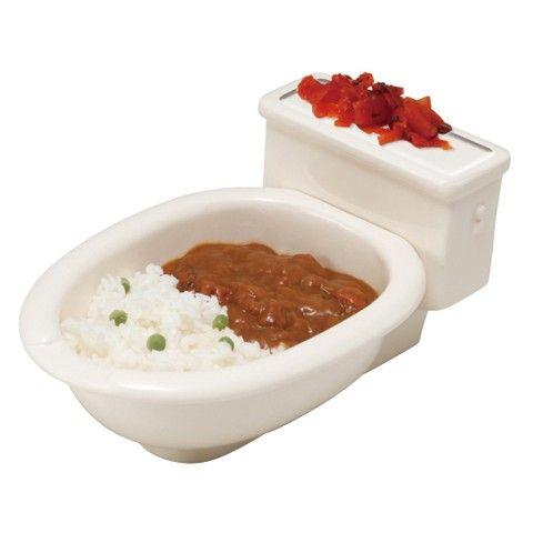 便器のカタチのカレー皿 洋式