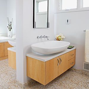 12 ideas for bathroom counters | Back-to-back vanities | Sunset.com