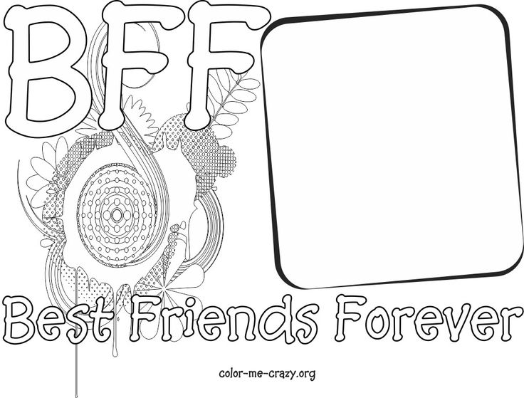 Bff coloring pages to download