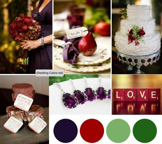 Eggplant Color Schemes: 312 Best Images About RUBY WEDDING ANNIVERSARY On Pinterest