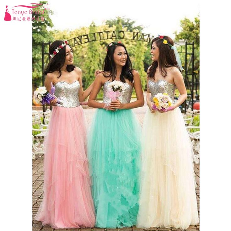 Find More Bridesmaid Dresses Information about Sequin and tulle Bridesmaid Dresses Strapless Sweety Prom Dresses Party Gowns sho me Weeding guest gowns  Z708,High Quality dress up dolls wedding,China dresses wear wedding guest Suppliers, Cheap dress cobalt from Tanya Bridal Store on Aliexpress.com