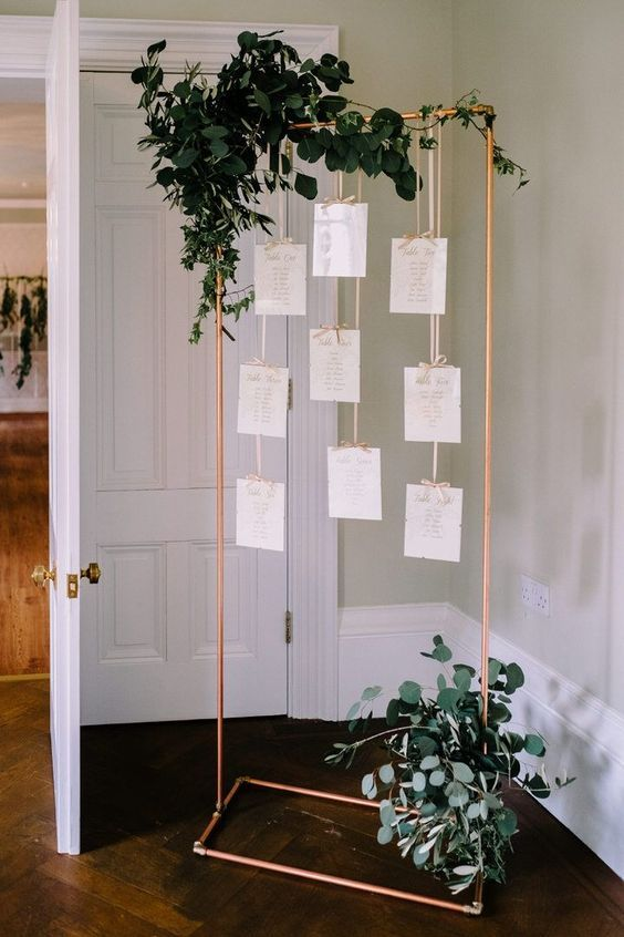 copper wedding seating decor