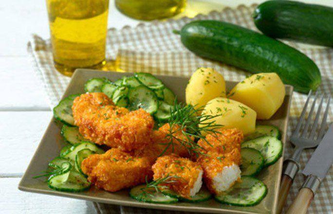 Fischstäbchen mit Gurkensalat - Mal wieder Lust auf Fisch aber kein Rezept zur…