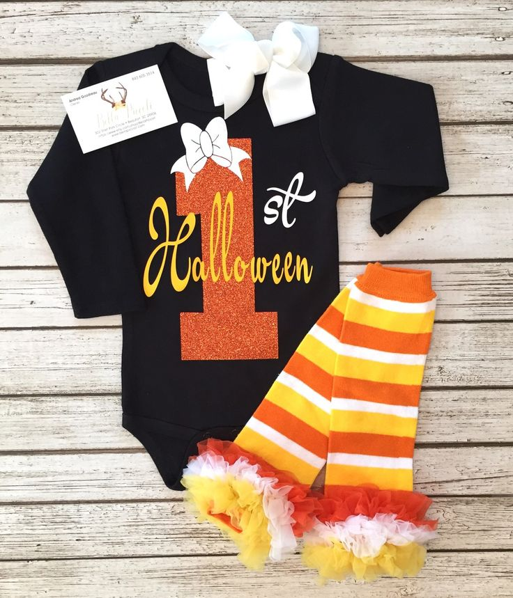 My First Halloween Baby Girls Long Sleeve Bodysuit Baby Girls First Halloween…