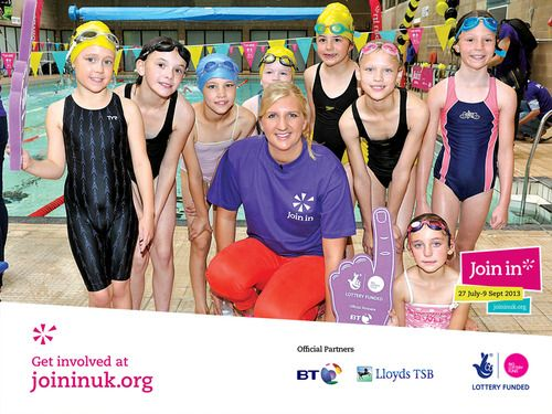 The lovely Rebecca Adlington provided a great source of inspiration for young swimmers. The Olympic athlete was very obliging and took photos with local youth at Rebecca Adlington and the town mayor presented voluteers with certificates at Stalybridge swimming pool in Stockport for Join In Summer 2013.
