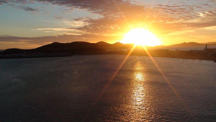 Sunset - P&O, Cruise Ship, New Caledonia