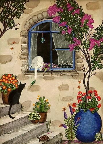Esra Sirman ( Turkish naive artist) ♥