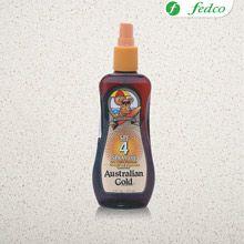 Australian Gold. Ayuda a prevenir las quemaduras de sol, dando una mínima protección SPF4 para alcanzar un bronceado hermoso.