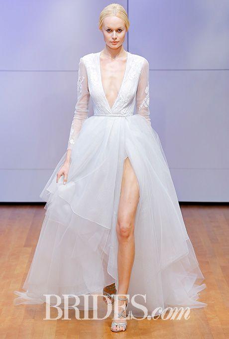 Bodysuit wedding dress with tulle overskirt Rivini by Rita Vinieris Wedding Dress - Fall 2016 - Brides.com