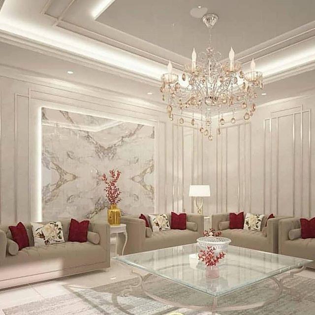 لمسة ابداع ديكورات ديكور 1tsy Instagram 相片與影片 Luxury House Interior Design Ceiling Design Living Room Home Design Decor