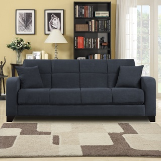 @Overstock - This fashionable and functional transitional futon sleeper sofa offers easy elegance for your living room. Crafted from hardwood and upholstered in gray microfiber, this stylish sofa gives you comfortable seating and sleeping space for surprise guests.http://www.overstock.com/Home-Garden/Craig-Gray-Microfiber-Convert-a-Couch-Futon-Sofa-Sleeper/7291870/product.html?CID=214117 $429.30