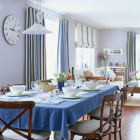 Attractive Classic Blue White Decorating | New England Style Dining Room | Dining Room  Furniture |