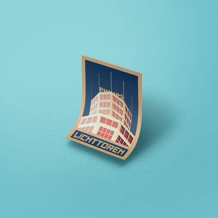 Lichttoren - Eindhoven 02 illustration #eindhoven #philips #lichttoren